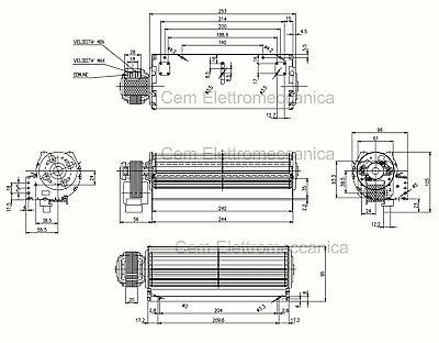Ventilatore Tangenziale TRIAL per FONDITAL GAZZELLE 240 mm per stufe 5