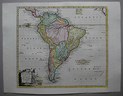 Südamerika - Kitchin / Baldwyn 1794 - South America agreeable to the most ...