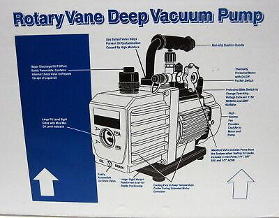 90066-2V-110 6 CFM Vacuum Pump Two Stage 1/3 HP 15 Microns 3440 RPM Mastercool 4