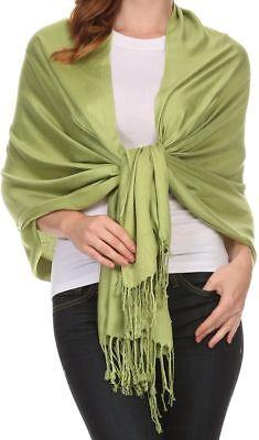 Fashion Womens Lady Girl Pashmina Warm Soft Solid Long Pashmina Shawl Wrap Scarf 6