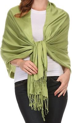 Soft Pashmina Solid Cashmere Silk Wrap Long SCARF Women neck Winter Warmer Shawl 3