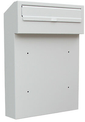 Rear Access Letter Box.W3 Steel Rear Access Letterbox For Gates And Fences 86 98