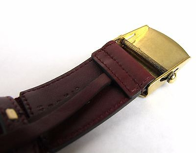 599bdb3c8c3 ... New Gucci Men s Burgundy Fabric Belt Military Anchor Brass Buckle 375191  6148 4