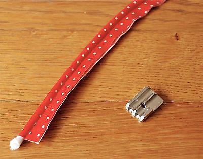 Pied passepoil double, perles 2 rainures métal F067 (4-6mm) machine à coudre 7