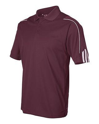 ADIDAS GOLF NEW Climalite Men's Size S-3XL Three Stripes Polo Sport Shirt, A76 7