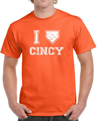 007 I LOVE CINCINNATI mens T-SHIRT baseball redlegs vintage jersey retro ohio 5