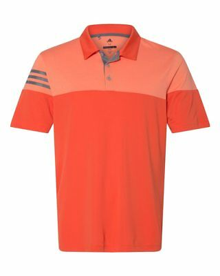 ADIDAS GOLF - 3-Stripes Polo, Men's Sizes S-3XL, Heather, Climalite Sport Shirts 7