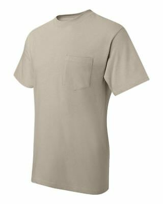 Hanes Beefy-T TAGLESS POCKET T-Shirt NEW 6.1 oz. 100% Cotton 5190 Mens S-3XL Tee 12