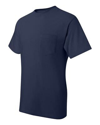 Hanes Beefy-T TAGLESS POCKET T-Shirt NEW 6.1 oz. 100% Cotton 5190 Mens S-3XL Tee 9