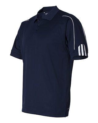 ADIDAS GOLF NEW Climalite Men's Size S-3XL Three Stripes Polo Sport Shirt, A76 9