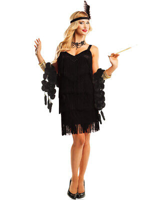 882 1920s Black Flapper Chicago Fancy Dress Gatsby Costume