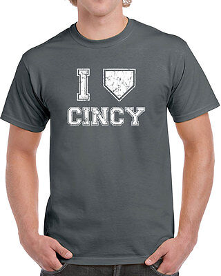 007 I LOVE CINCINNATI mens T-SHIRT baseball redlegs vintage jersey retro ohio 4