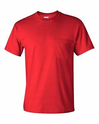 3b78d2d21d4c GILDAN MENS NEW Size S-XL 2XL 3XL 4XL 5XL Pocket Tees 100% Cotton T ...