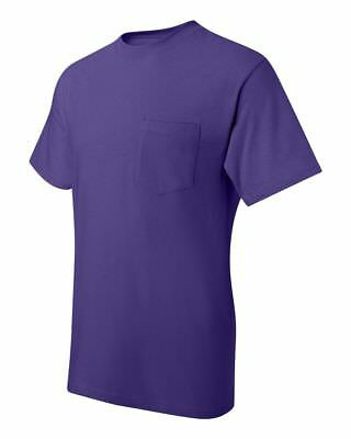 Hanes Beefy-T TAGLESS POCKET T-Shirt NEW 6.1 oz. 100% Cotton 5190 Mens S-3XL Tee 11