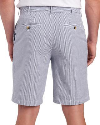 Men/'s IZOD Sandy Bay Seersucker Flat Front Shorts 38W High Rise Gray