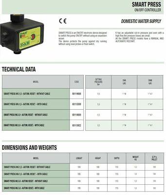 Dab Dab Regolatore Di Pressione Presscontrol Smart Press 60114808 Senza Cavo 3
