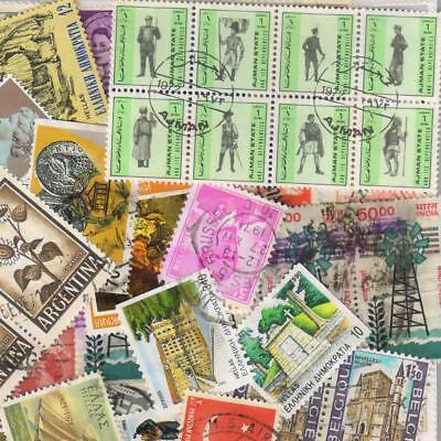 1000s ALL DIFFERENT OLD WORLD Stamps Collection Off Paper in Lot Packs of 150+ 6