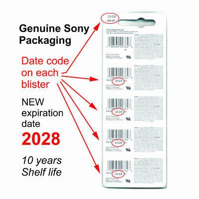 2 NEW SONY CR2016 3V Lithium Coin Battery Expire 2028 FRESHLY NEW - USA Seller 2