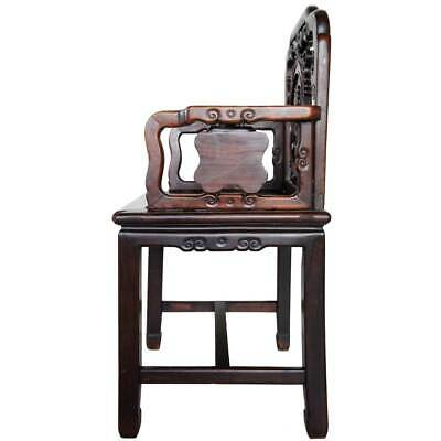 Antique Chinese Qing Medallion Back Rosewood Armchair 19th century 6