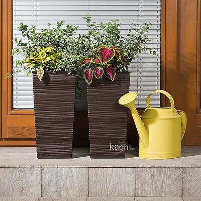 Blumenkübel Pflanzkübel Rillenstruktur Blumentopf Pflanzeinsatz 3 Farben 4Größen 3