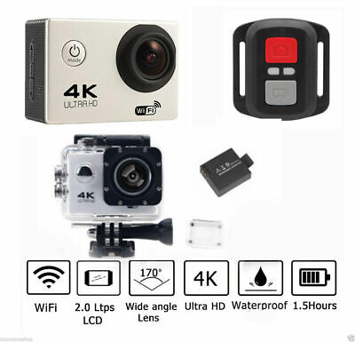 Pro Cam 4K SPORT WIFI ACTION CAMERA ULTRA HD VIDEOCAMERA SUBACQUEA GOPRO 16MP .. 4