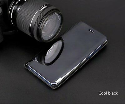 Luxury Mirror View Clear Stylish Flip PU Case Cover For Huawei P20 Lite P20 Pro 8