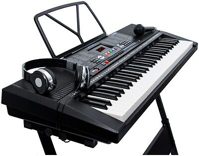 Musical Keyboard Electronic Digital Piano 61 Key Adults Beginner With Stand 3