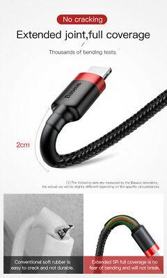 Baseus MFI Certified Fast Charging Lightning Data Sync Cable Apple iPad iPhone 6