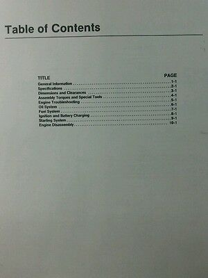 ONAN SERVICE MANUAL B48M Engine 46pg Garden Tractor 18 hp Sears Gravely Case