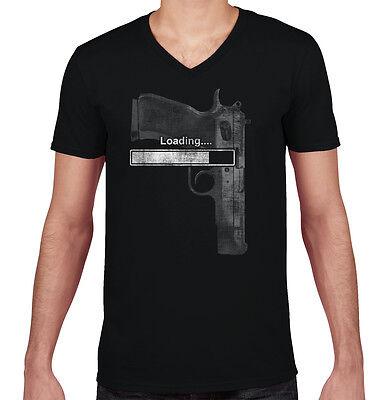 Loading Gun USA ShirtPatriot 2nd Amendment Gift Idea Law V-Neck T Shirt