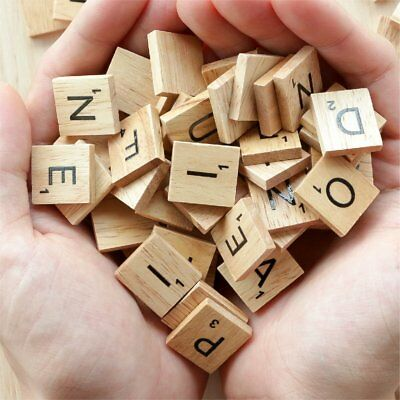 200pcs Wooden Letters Alphabet Scrabble Tiles Letters & Numbers For Game &Crafts 6