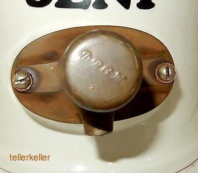 Develey Senftopf Ø 23 cm / H 34 cm Steingut Tante Emma Senf Pumpe D.R.P.M. 4