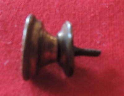 Antique 19th c. Spun Brass Furniture Knob Drawer Pull Handle Federal Regency 4