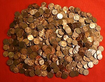 1964-D Lincoln Memorial Cent Penny 50 Coin Roll Circulated Copper 2