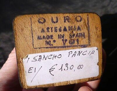 """Iconica e bella statuina in legno Vintage originale """"Sancho Panza"""" 3"""