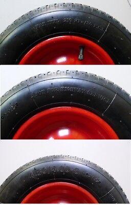 Schubkarrenrad Ersatzrad luftbereift 4.80/4.00-8 inkl. Achse, Schubkarrenreifen 5