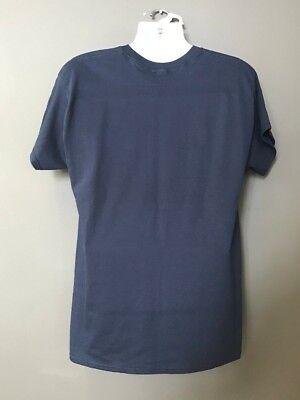 CIA Central Intelligence Agency Logo Over Heart Blue Short Sleeve MORALE T-Shirt