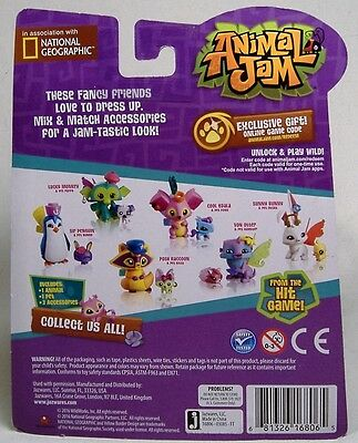 NEW ANIMAL JAM Lucky Monkey & Pet Puppy Figures Online Game Code Jazwares  Htf