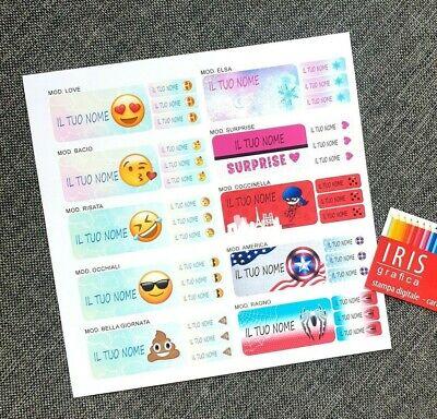 Kit 20+150 Etichette Personalizzate Scuola Con Il Tuo Nome 6
