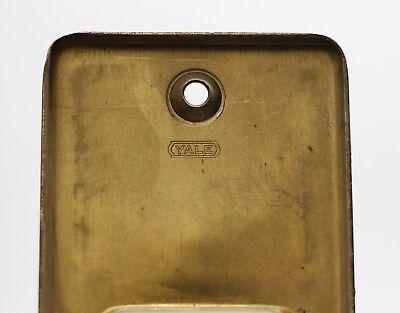 Vintage Brass Yale Pocket Door Plate