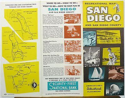 1950 s san diego california vintage travel brochure illustrated