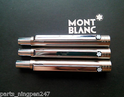 3X Montblanc Slim Line Ballpoint No.2938 Stainless Steel & Gold Cap Part Pen NOS 2