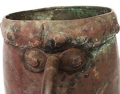1700's, Rare Ancient 2kg Copper Casting Pot , Islamic Ottoman Mamluk Style 2