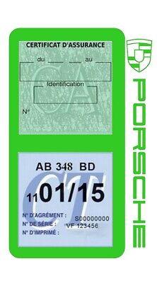 Porte vignette assurance PORSCHE double étui voiture Stickers auto rétro 11