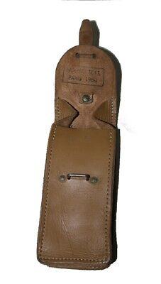 Armee Leder weiß Magazintasche Koppeltasche army Vintage Patronentasche Ital