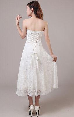 Brautkleid Hochzeitskleid Standesamt Spitze Kleid Fur Braut Weiss