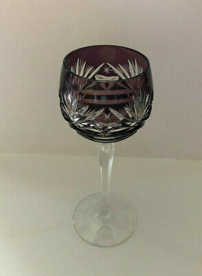 VINTAGE BOHEMIAN STYLE CRYSTAL ROEMER (Römer) WINE GLASS FROM GERMANY - GRAPE 3