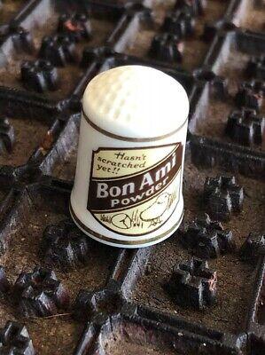 Beautiful BON AMI POWDER Porcelain Advertising Thimble 2