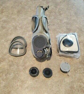 Military Czech Gas Mask M10M With Hydration Straw Filters Emergency Survival NBC 4