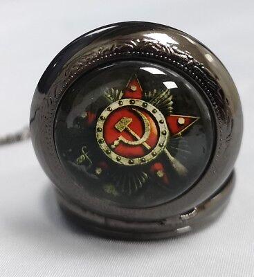 Russian Pocket Watch CCCP Hammer Sickle Army Cold War Old KGB WW2 WW1 Army Retro 9